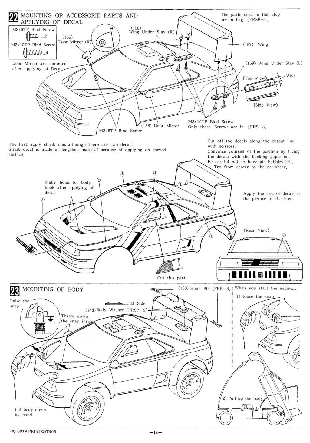 r tro mod lisme kyosho peugeot 405 en anglais tt 1 10 thermique Peugeot 301 Interior 14