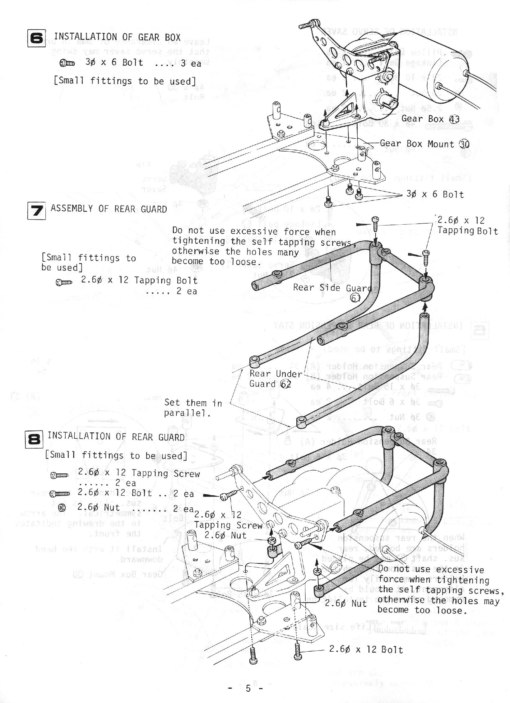 Rétro Modélisme • Kyosho Scorpion Manual (English) TT 1/10
